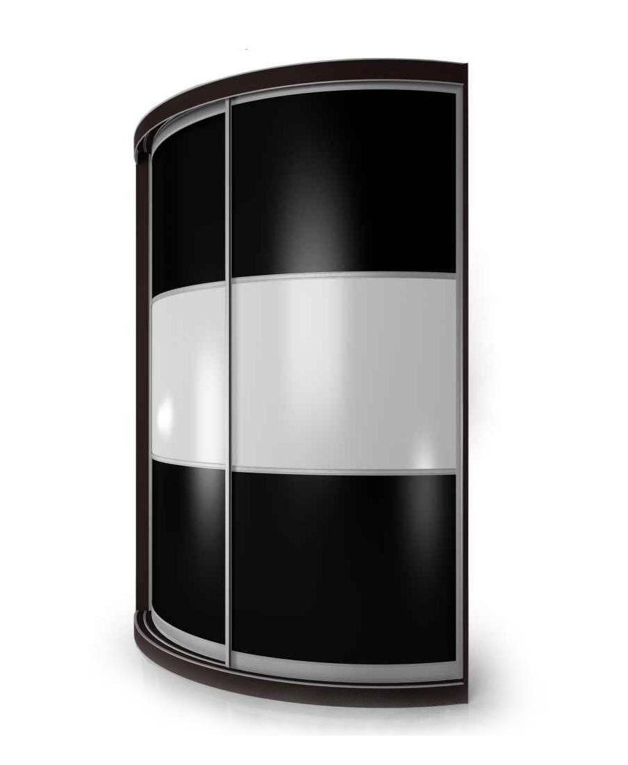 Радиусный шкаф-купе Мебелайн-15 фото
