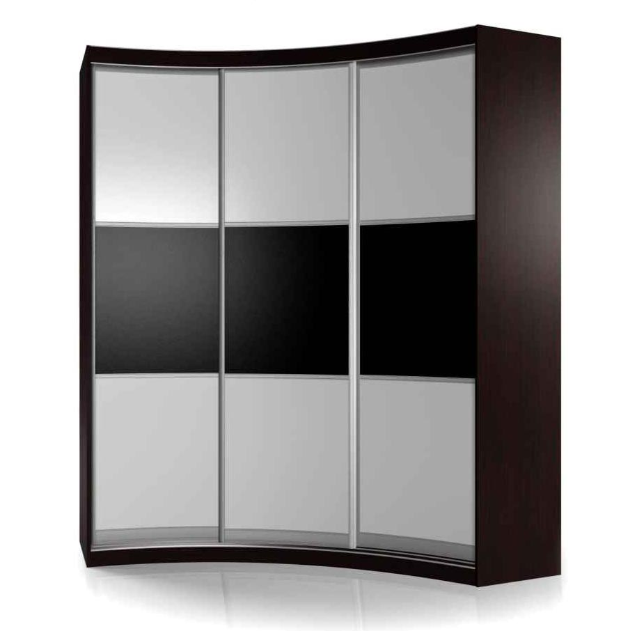 Радиусный шкаф-купе Мебелайн-16 фото