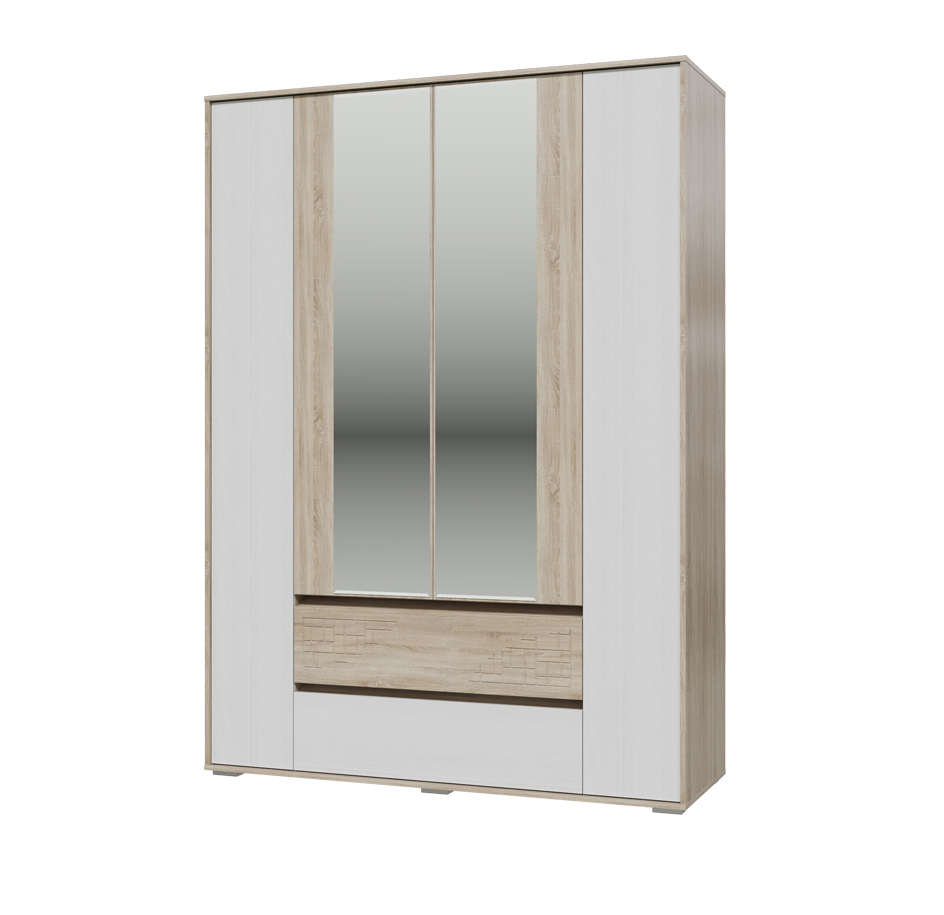 Шкаф 4-х дверный с ящикам Мальта — Шкаф 4-х дверный с ящикам