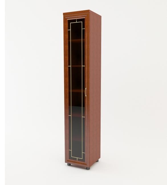 Шкаф распашной Премьер 1 дверный с витриной фото