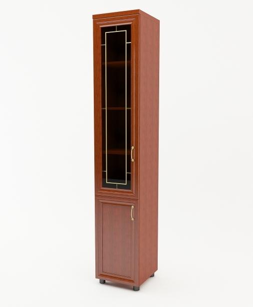 Шкаф распашной Премьер 2-х дверный с витриной
