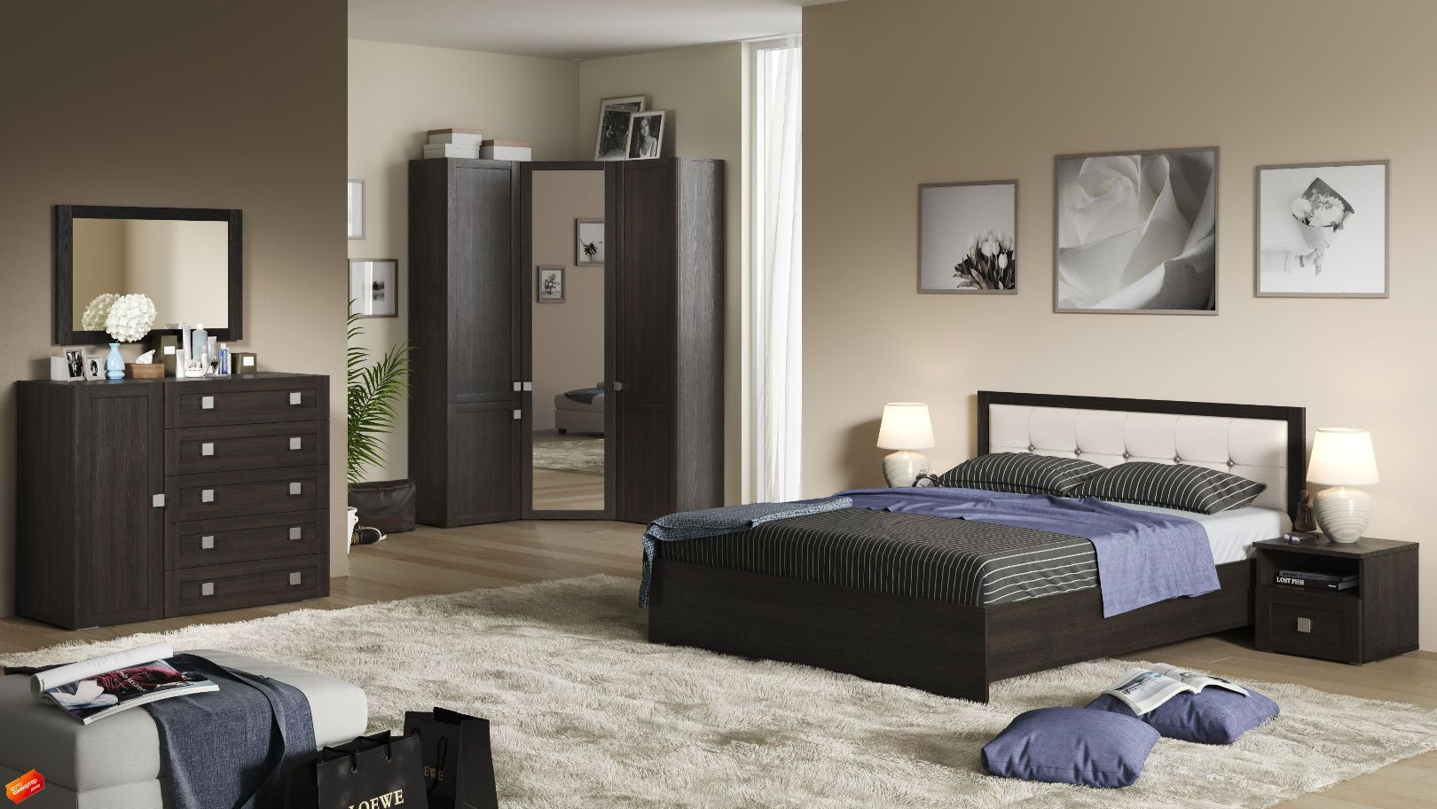 Модульная спальня Корсика Композиция-3 фото