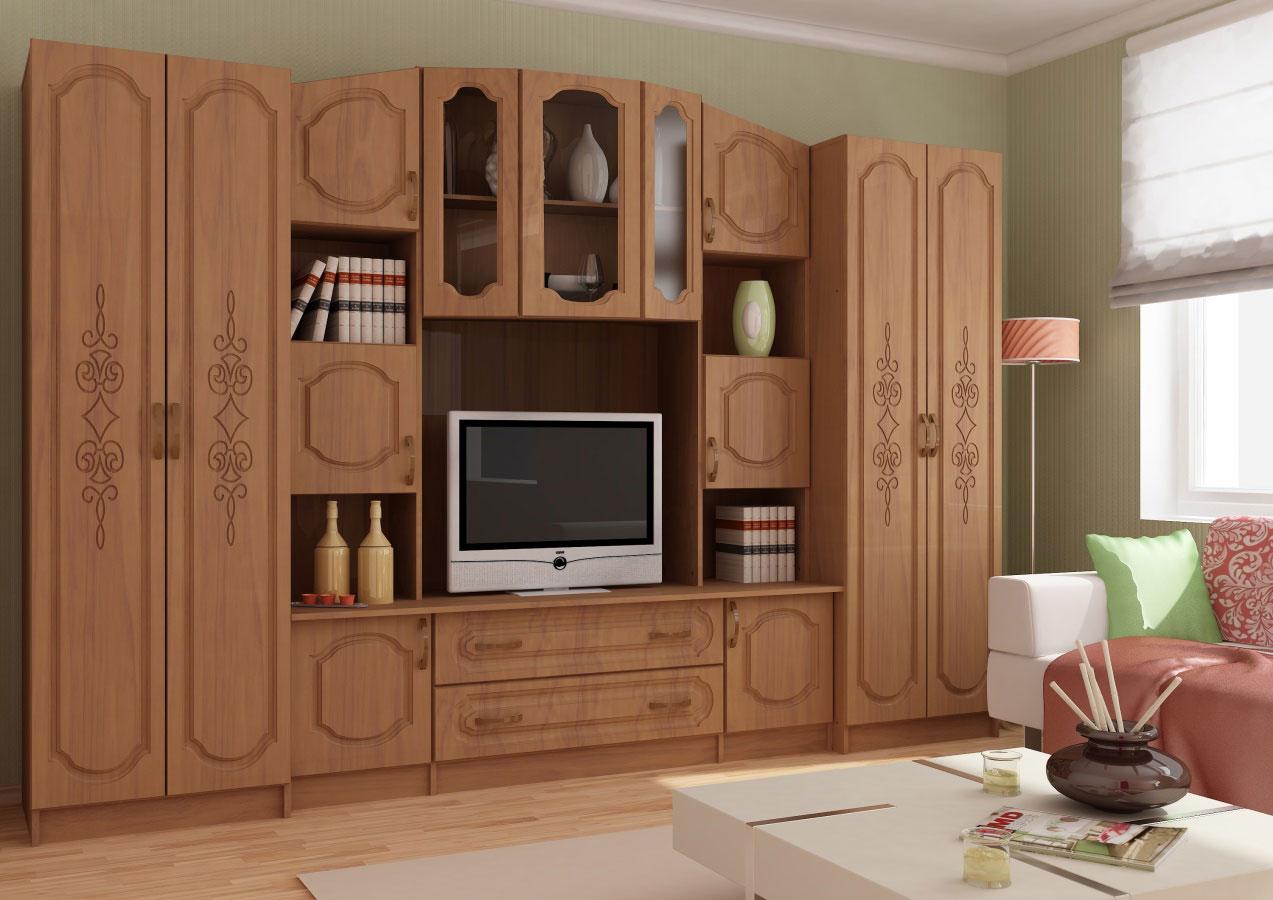 Сурская мебель Модульная стенка Макарена 23 МДФ фото
