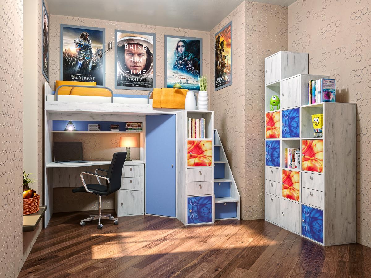 Детская модульная комната Тетрис