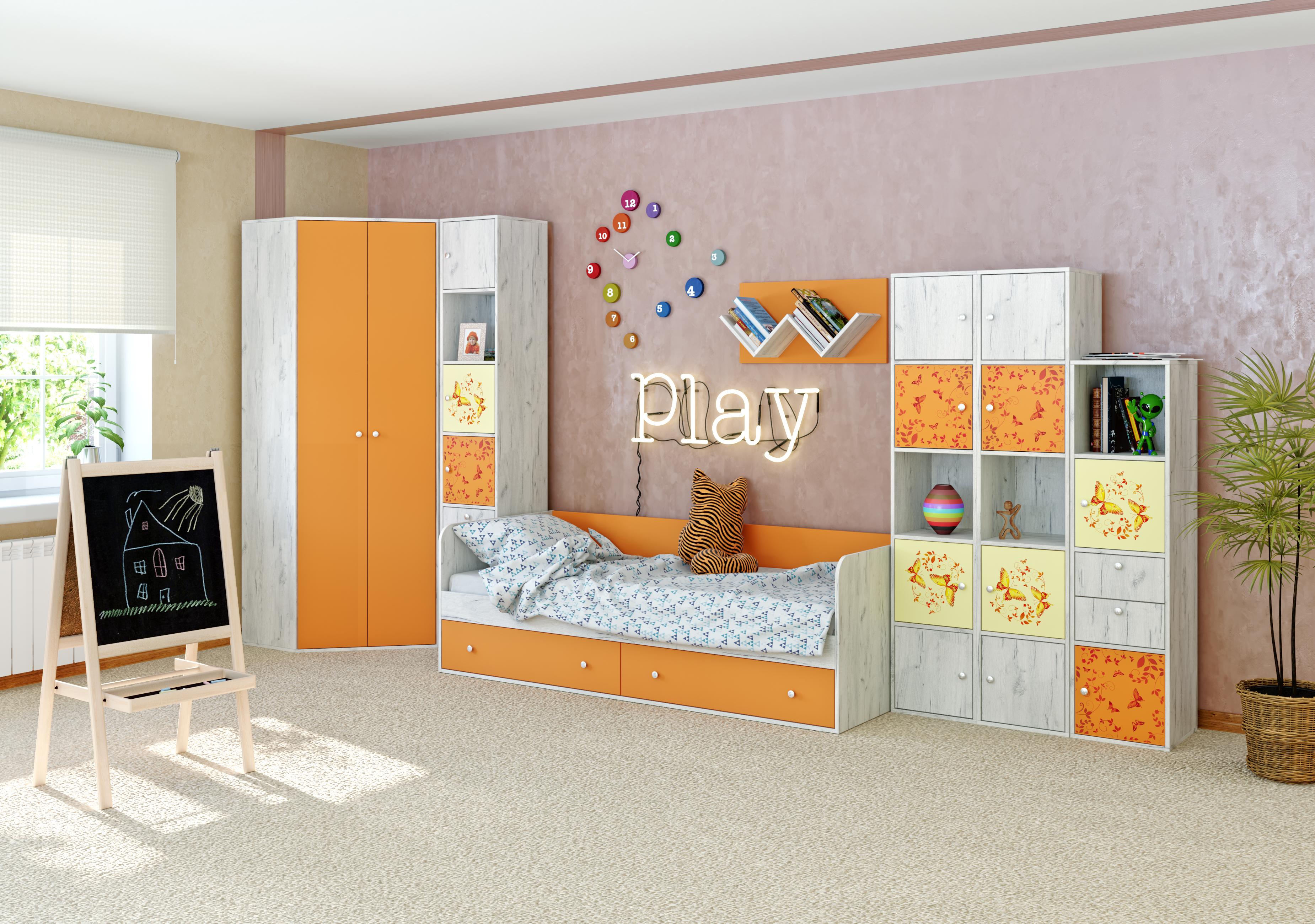 Детская модульная комната Тетрис 1 с фотопечатью