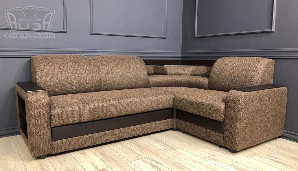 Угловой диван Виза 01 с баром фото