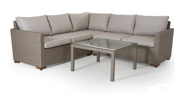 Угловой комплект плетеной мебели Canby
