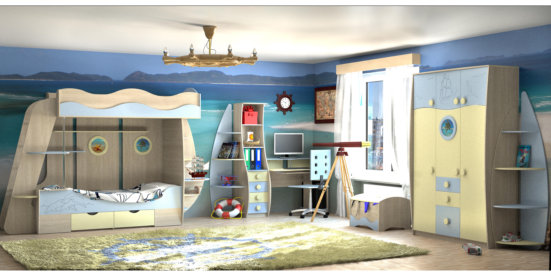 Детская модульная спальня Юнга фото